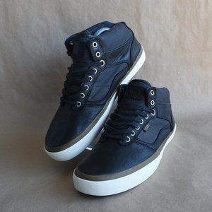* VANS Bedford Black Leather Mid Unisex Skate Shoe